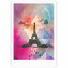 "alyZen Moonshadow ""Eiffel Tower (Deep Pink)"" Pink France Fine Art Gallery Print - KESS InHouse"