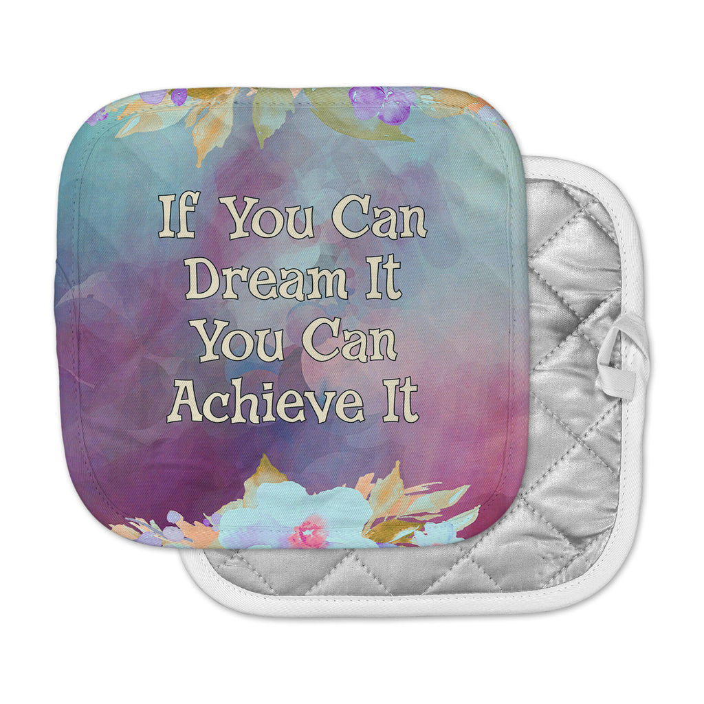 "AlyZen Moonshadow ""If You Can Dream It"" Multicolor Gold Digital Pot Holder"