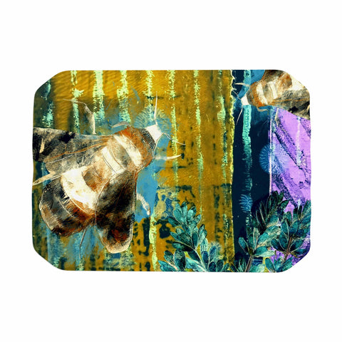 "AlyZen Moonshadow ""Bees And Lavender"" Lavender Olive Digital Place Mat"