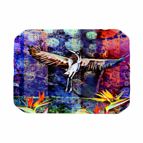 "AlyZen Moonshadow ""Birds Of Paradise Multi"" Multicolor Blue Digital Place Mat"