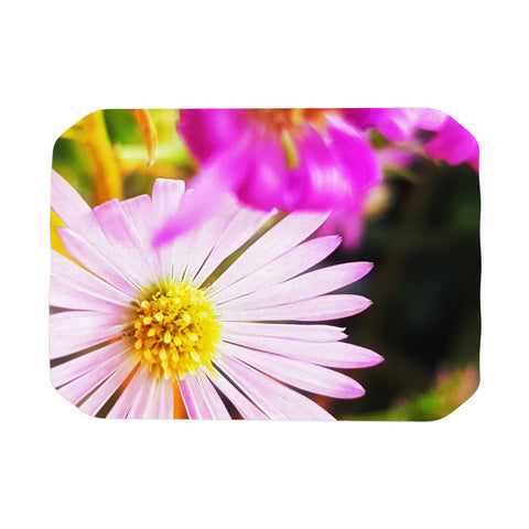 "AlyZen Moonshadow ""Flower Medley Closeup"" Pink Green Digital Place Mat"