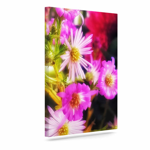 "AlyZen Moonshadow ""Sweet Flower Medley"" Multicolor Pink Digital Art Canvas"