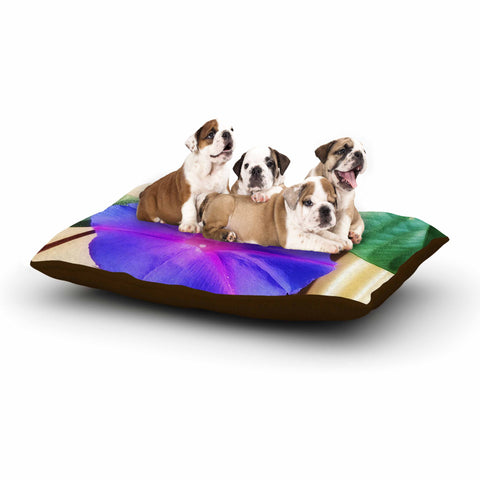 "AlyZen Moonshadow ""Morning Glory Purple"" Purple Green Digital Dog Bed"