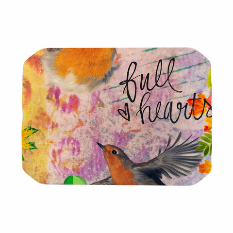 "AlyZen Moonshadow ""Full Hearts"" Multicolor Orange Digital Place Mat"