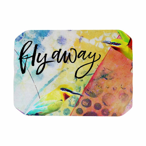 "AlyZen Moonshadow ""Fly Away"" Multicolor Red Digital Place Mat"