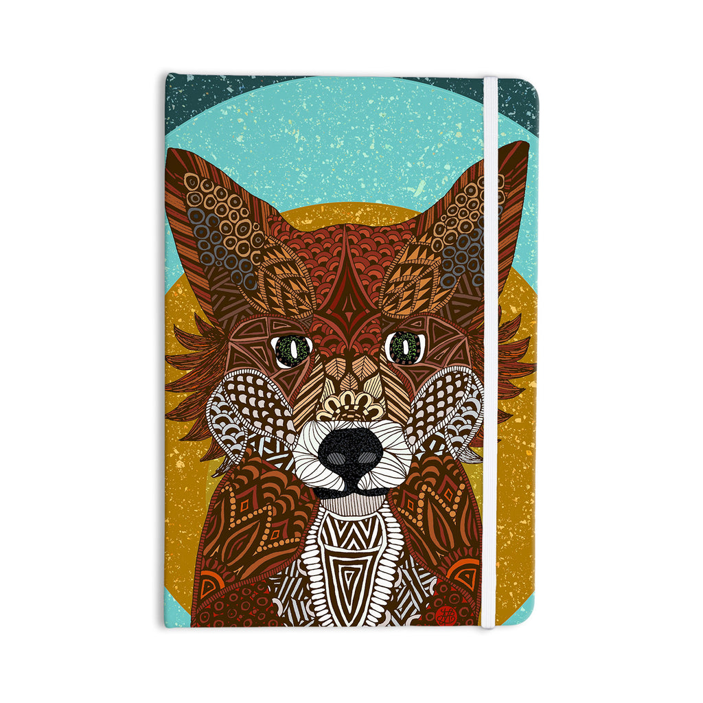 "Art Love Passion ""Colored Fox"" Blue Orange Everything Notebook - KESS InHouse  - 1"