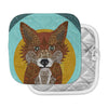 "Art Love Passion ""Colored Fox"" Blue Orange Pot Holder"