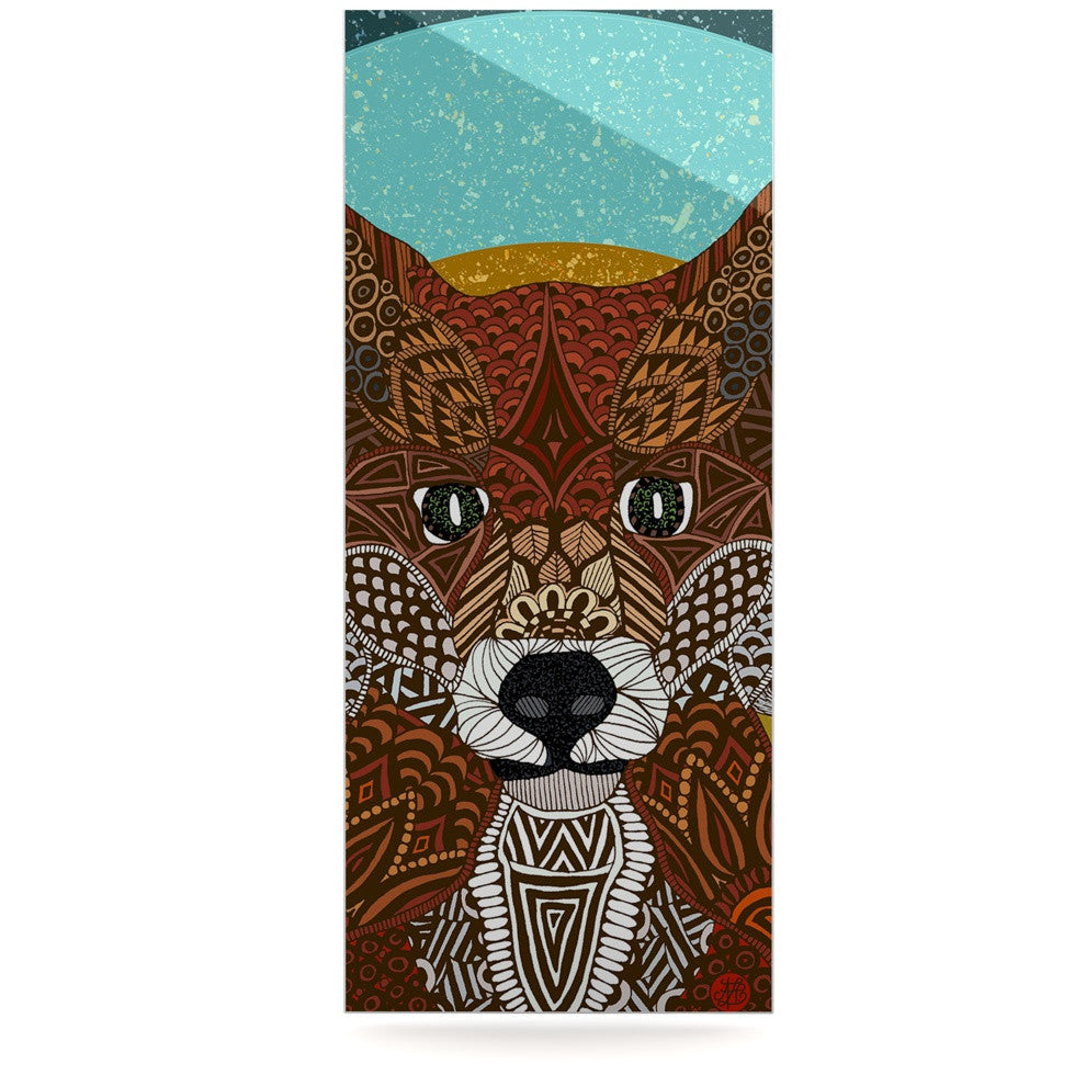"Art Love Passion ""Colored Fox"" Blue Orange Luxe Rectangle Panel - KESS InHouse  - 1"