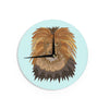 "Art Love Passion ""Lion"" Blue Brown Wall Clock - KESS InHouse"