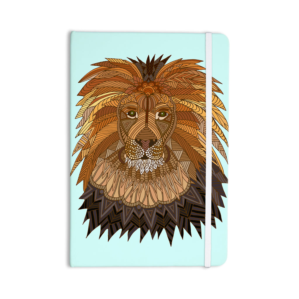 "Art Love Passion ""Lion"" Blue Brown Everything Notebook - KESS InHouse  - 1"