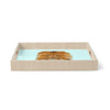 "Art Love Passion ""Lion"" Blue Brown Birchwood Tray"