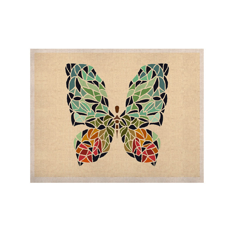 "Art Love Passion ""Butterfly"" Brown Multicolor KESS Naturals Canvas (Frame not Included) - KESS InHouse  - 1"