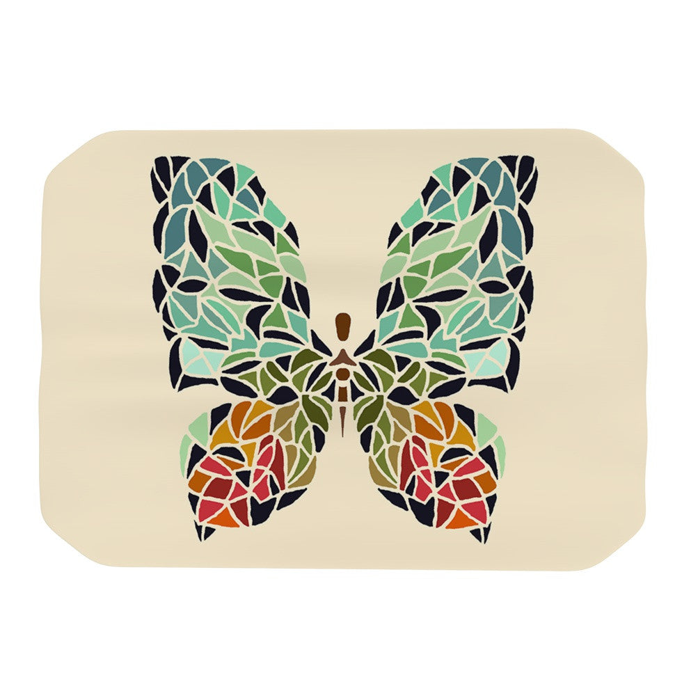 "Art Love Passion ""Butterfly"" Brown Multicolor Place Mat - KESS InHouse"