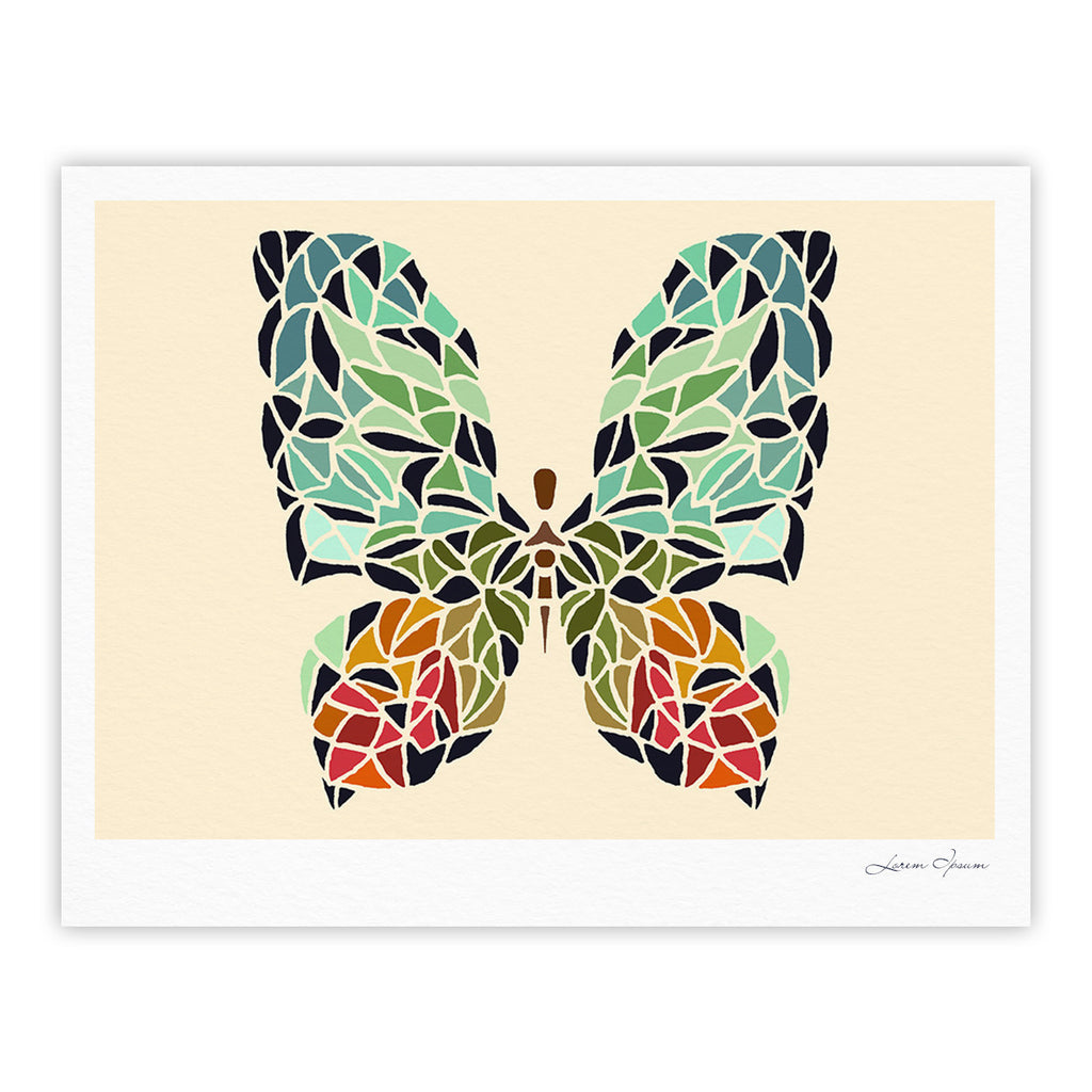 "Art Love Passion ""Butterfly"" Brown Multicolor Fine Art Gallery Print - KESS InHouse"