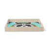 "Art Love Passion ""Raccoon in Grass"" Gray Teal Birchwood Tray"