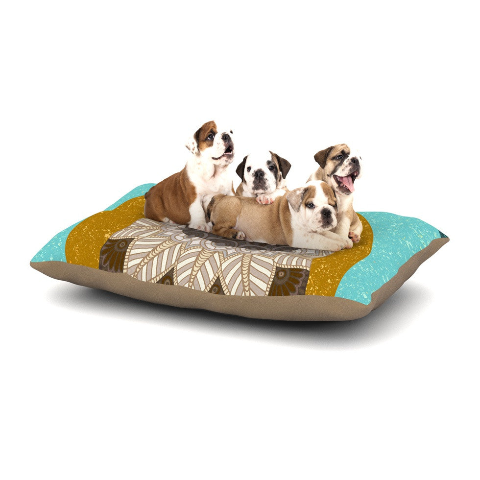"Art Love Passion ""Otter in Water"" Blue Brown Dog Bed - KESS InHouse  - 1"
