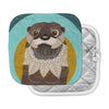 "Art Love Passion ""Otter in Water"" Blue Brown Pot Holder"