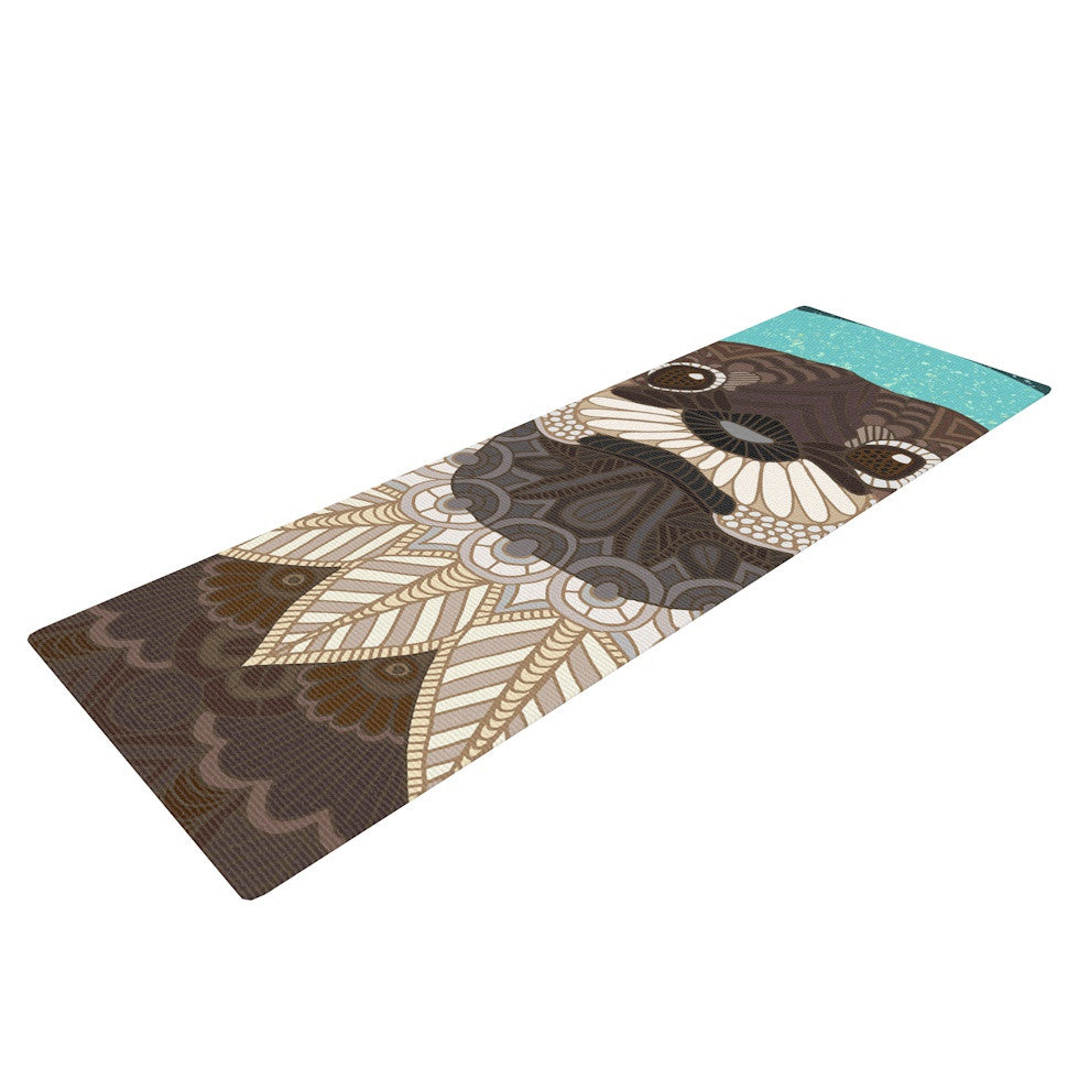 "Art Love Passion ""Otter in Water"" Blue Brown Yoga Mat - KESS InHouse  - 1"