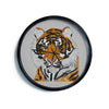 "Art Love Passion ""Tiger"" Gray Orange Modern Wall Clock"