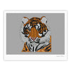 "Art Love Passion ""Tiger"" Gray Orange Fine Art Gallery Print - KESS InHouse"