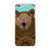 "Art Love Passion ""Bear in Grass"" Brown Blue iPhone Case - KESS InHouse"