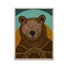 "Art Love Passion ""Bear in Grass"" Brown Blue KESS Naturals Canvas (Frame not Included) - KESS InHouse  - 1"