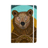 "Art Love Passion ""Bear in Grass"" Brown Blue Everything Notebook - KESS InHouse  - 1"