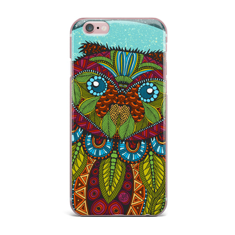 "Art Love Passion ""Owl"" Teal Multicolor iPhone Case - KESS InHouse"