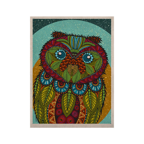 "Art Love Passion ""Owl"" Teal Multicolor KESS Naturals Canvas (Frame not Included) - KESS InHouse  - 1"