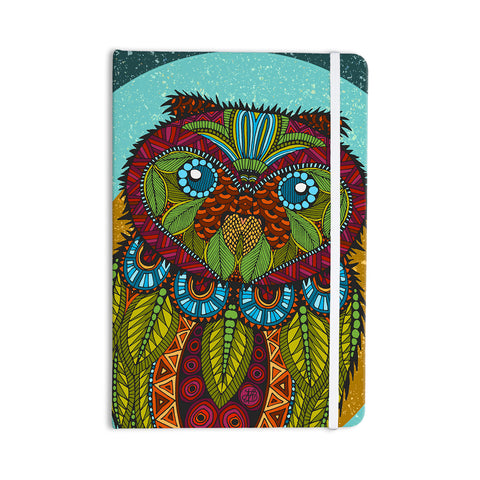 "Art Love Passion ""Owl"" Teal Multicolor Everything Notebook - KESS InHouse  - 1"