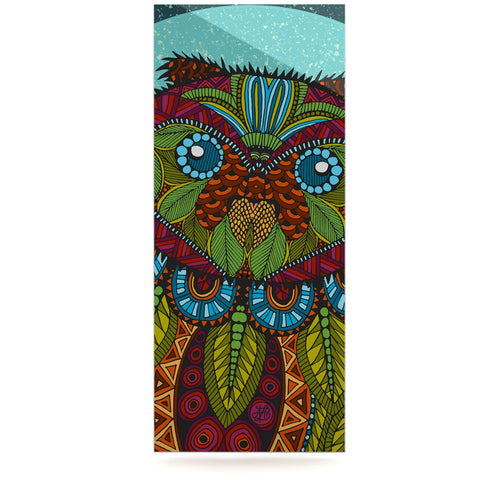 "Art Love Passion ""Owl"" Teal Multicolor Luxe Rectangle Panel - KESS InHouse  - 1"
