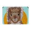 "Art Love Passion ""Squirrel"" Teal Brown Memory Foam Bath Mat - KESS InHouse"