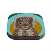 "Art Love Passion ""Squirrel"" Teal Brown Coasters (Set of 4)"