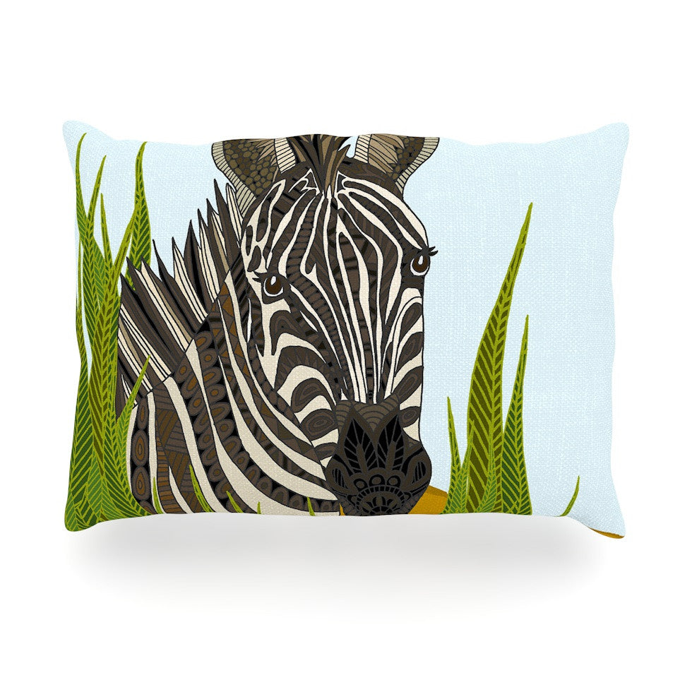 "Art Love Passion ""Zebra"" Black White Oblong Pillow - KESS InHouse"