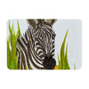 "Art Love Passion ""Zebra"" Black White Memory Foam Bath Mat - KESS InHouse"
