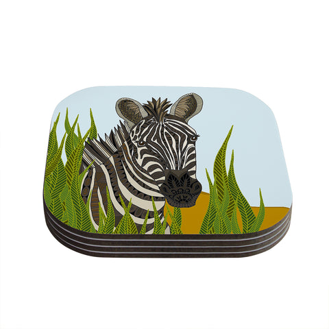 "Art Love Passion ""Zebra"" Black White Coasters (Set of 4) - Outlet Item"