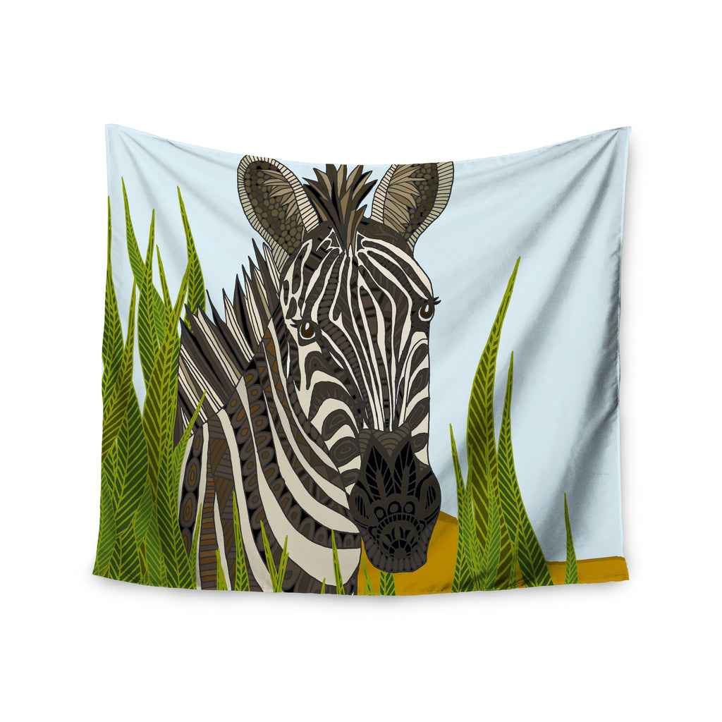 "Art Love Passion ""Zebra"" Black White Wall Tapestry - KESS InHouse  - 1"