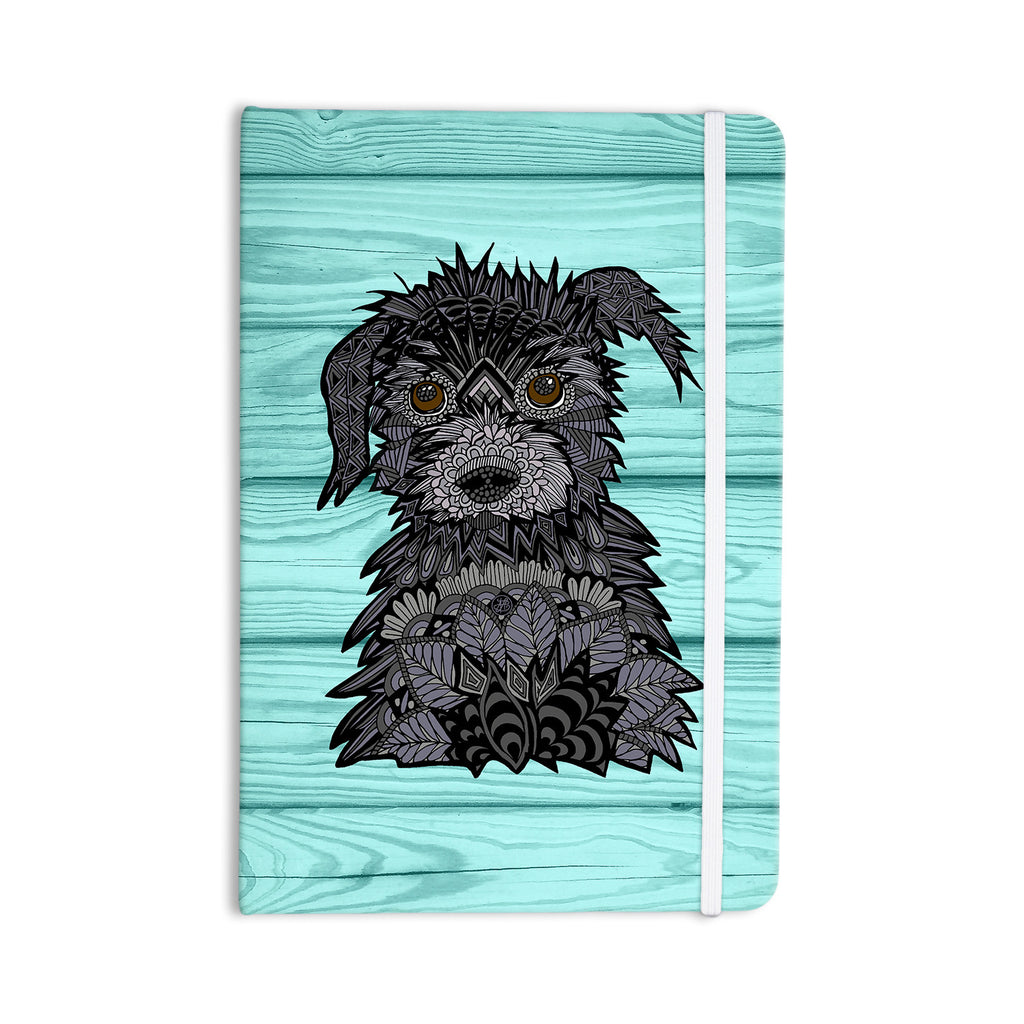"Art Love Passion ""Little Miss Daisy"" Blue Black Everything Notebook - KESS InHouse  - 1"