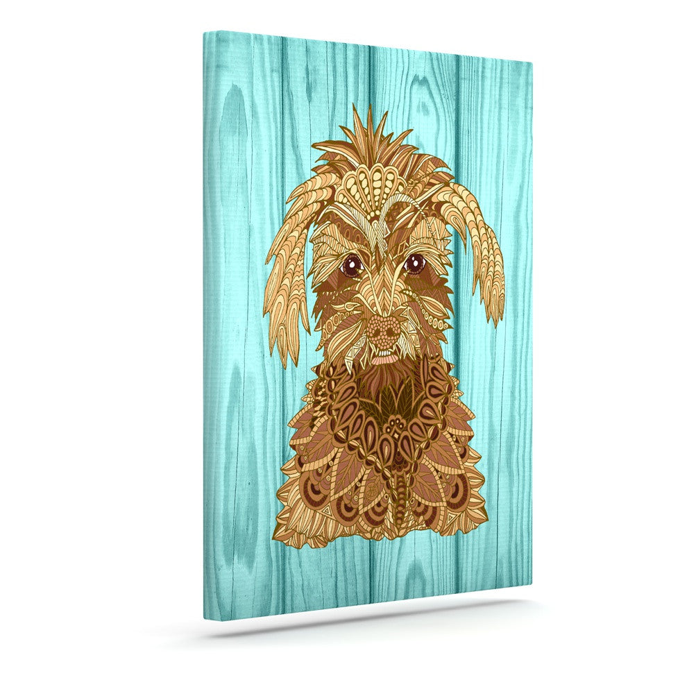 "Art Love Passion ""Gatsby the Great"" Brown Dog Canvas Art - KESS InHouse  - 1"