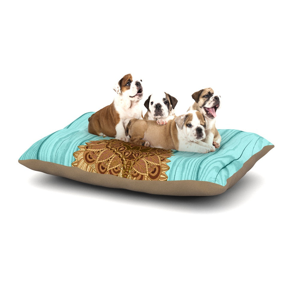 "Art Love Passion ""Gatsby the Great"" Brown Dog Dog Bed - KESS InHouse  - 1"