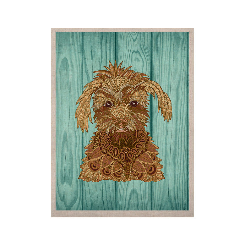 "Art Love Passion ""Gatsby the Great"" Brown Dog KESS Naturals Canvas (Frame not Included) - KESS InHouse  - 1"