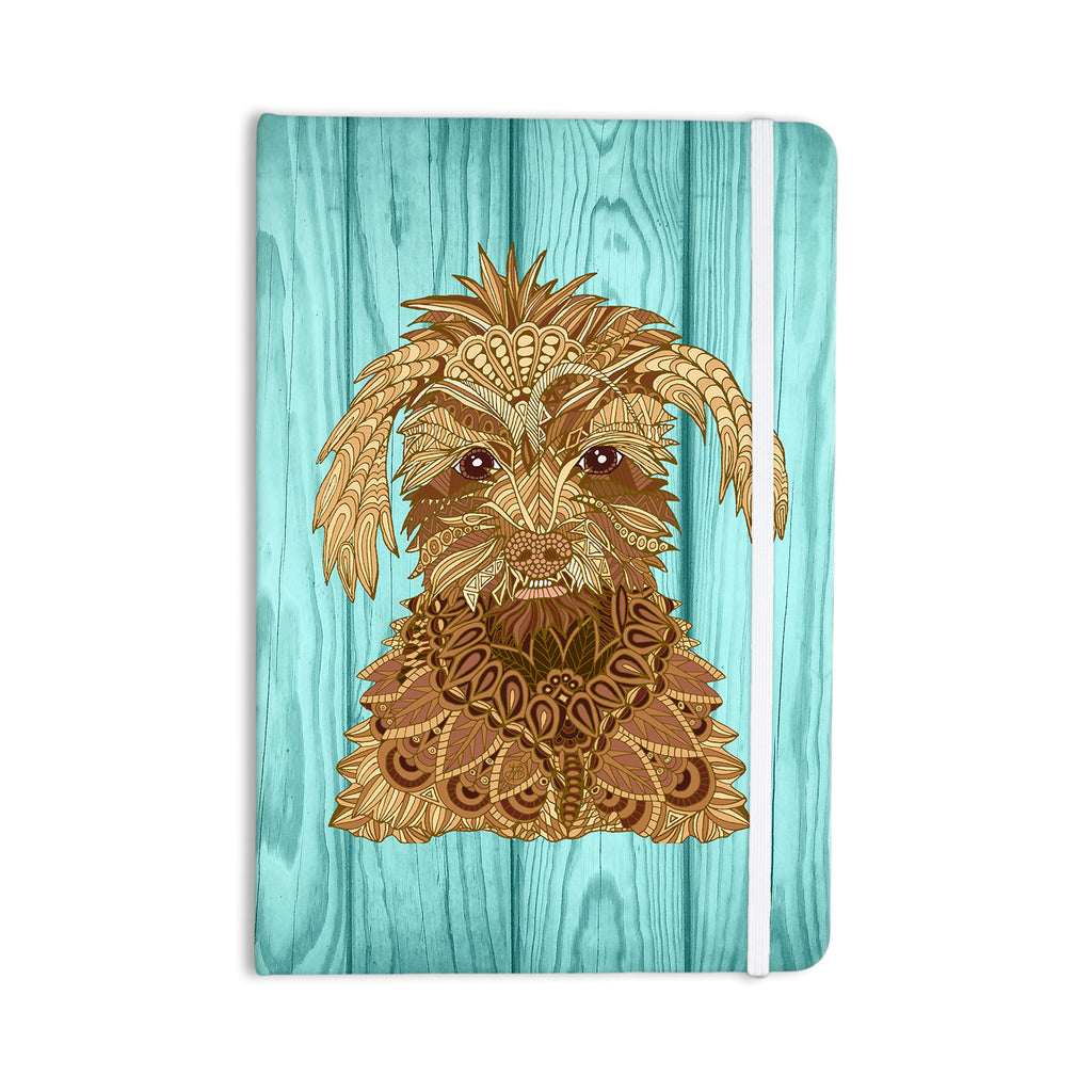 "Art Love Passion ""Gatsby the Great"" Brown Dog Everything Notebook - KESS InHouse  - 1"