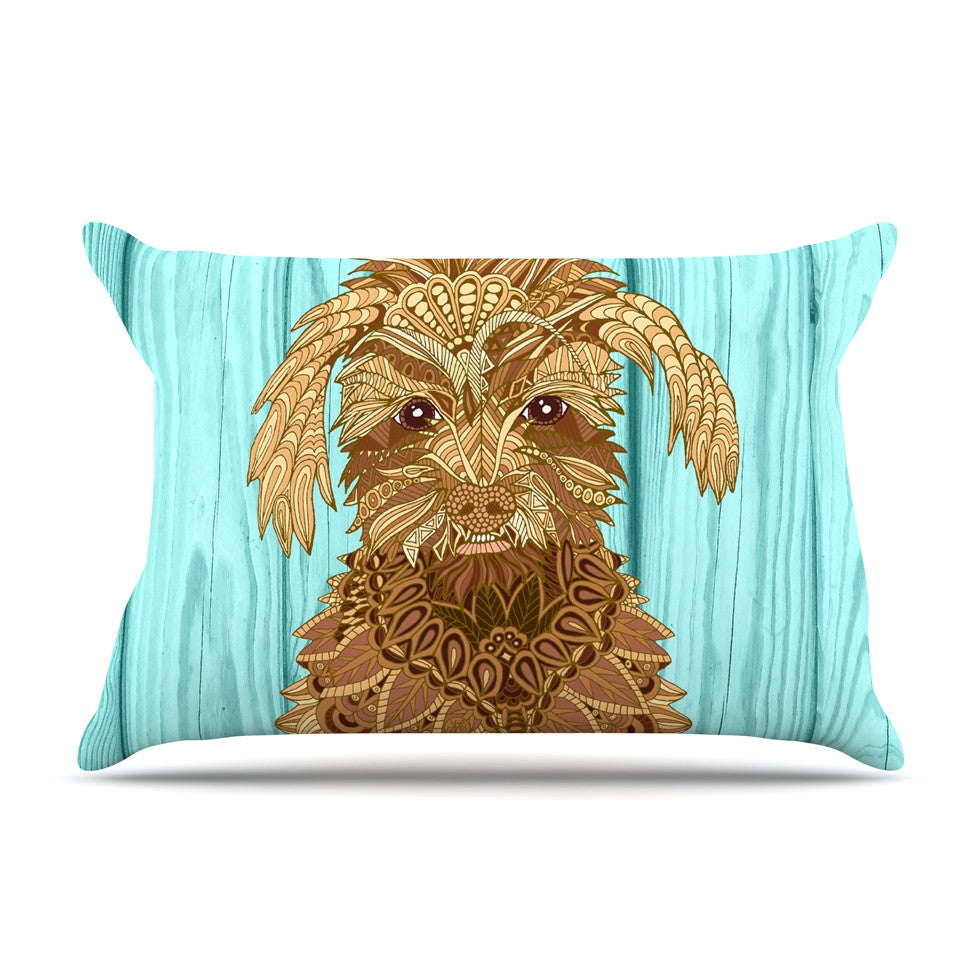 "Art Love Passion ""Gatsby the Great"" Brown Dog Pillow Sham - KESS InHouse  - 1"