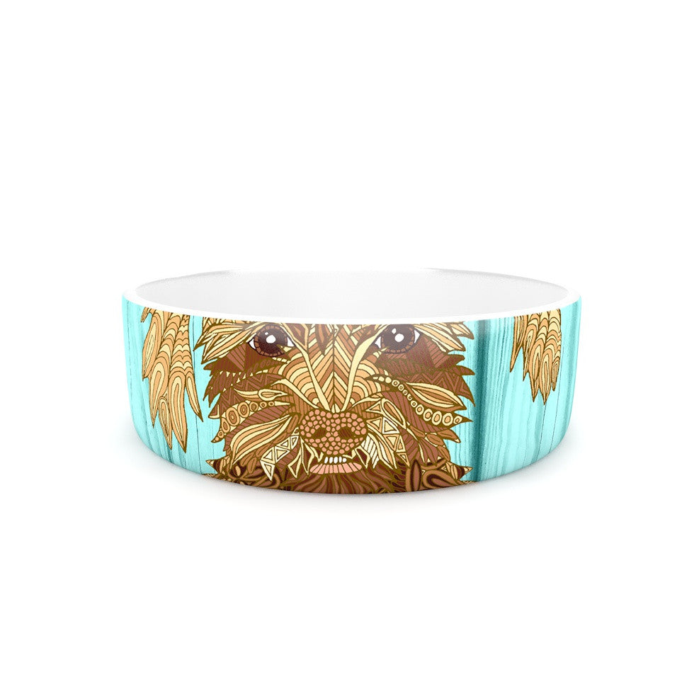"Art Love Passion ""Gatsby the Great"" Brown Dog Pet Bowl - KESS InHouse"