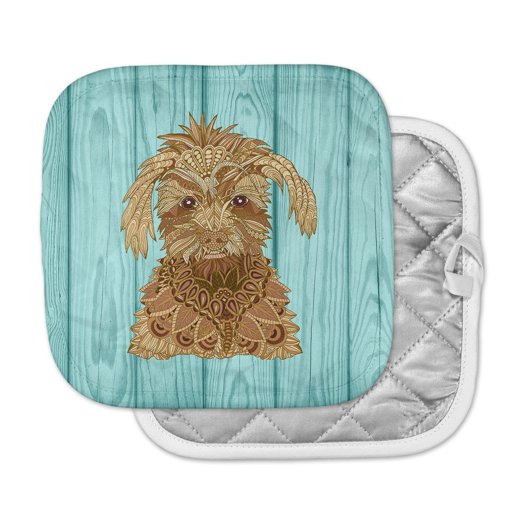 "Art Love Passion ""Gatsby the Great"" Brown Dog Pot Holder"
