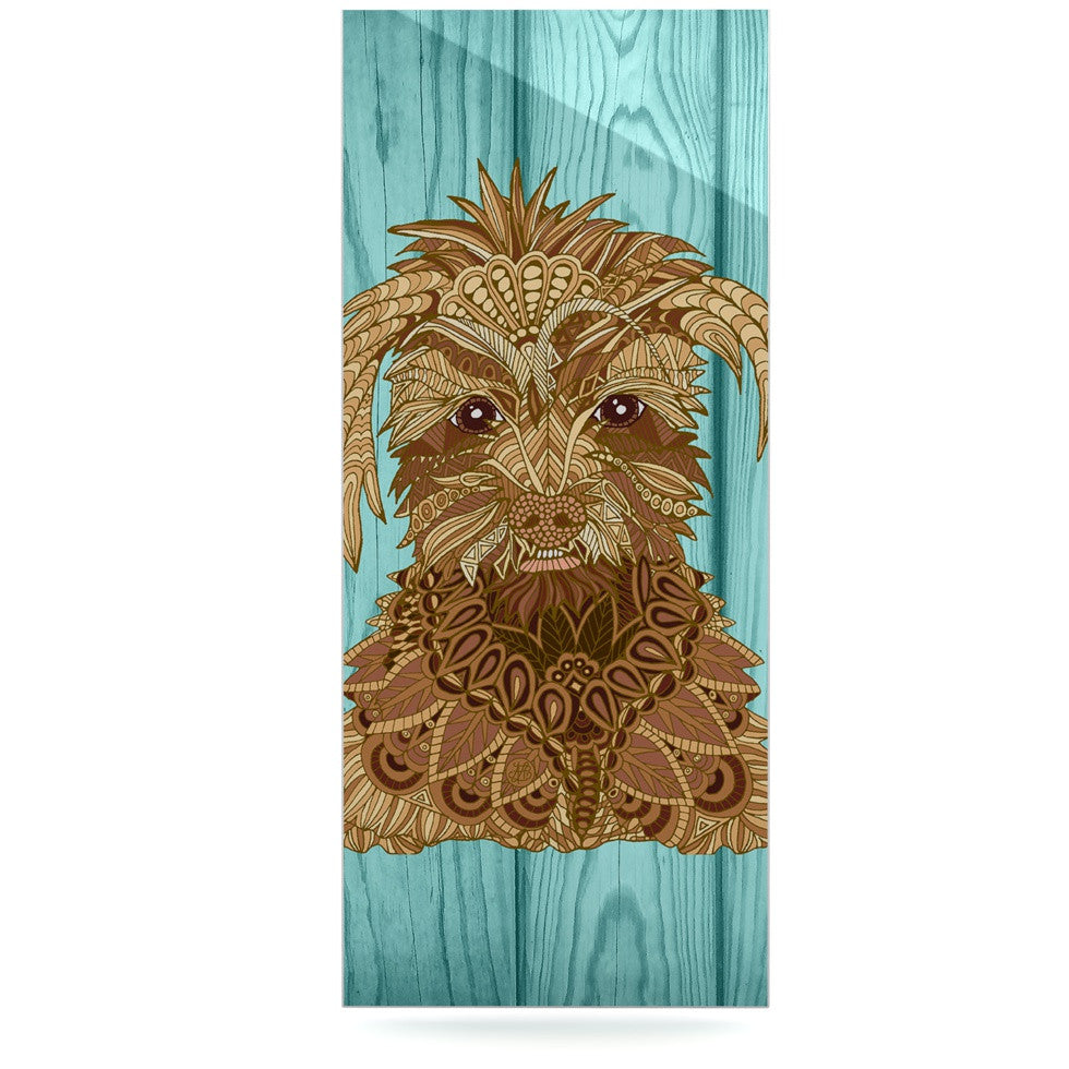 "Art Love Passion ""Gatsby the Great"" Brown Dog Luxe Rectangle Panel - KESS InHouse  - 1"