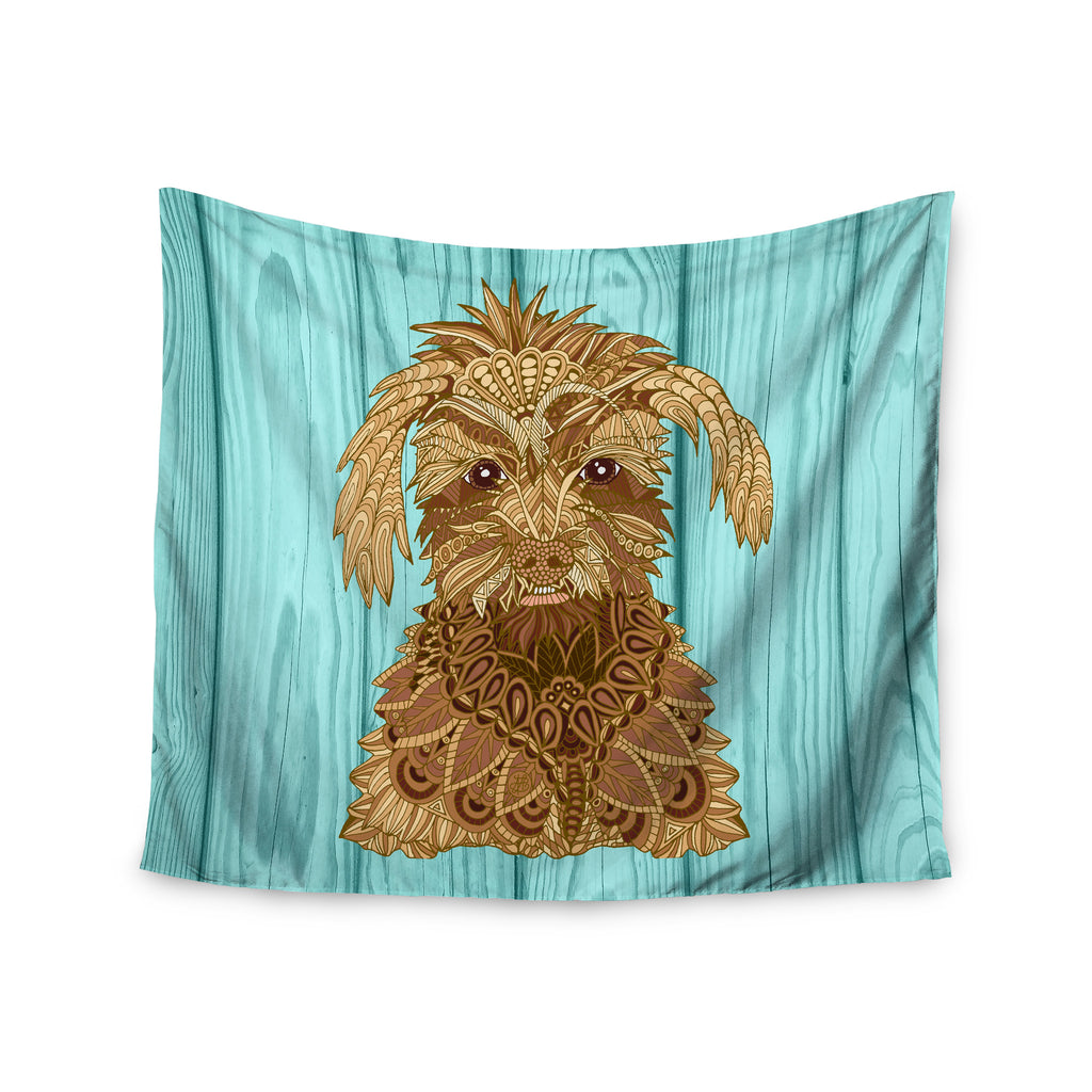 "Art Love Passion ""Gatsby the Great"" Brown Dog Wall Tapestry - KESS InHouse  - 1"