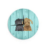 "Art Love Passion ""Daisy and Gatsby"" Abstract Puppies Wall Clock - KESS InHouse"