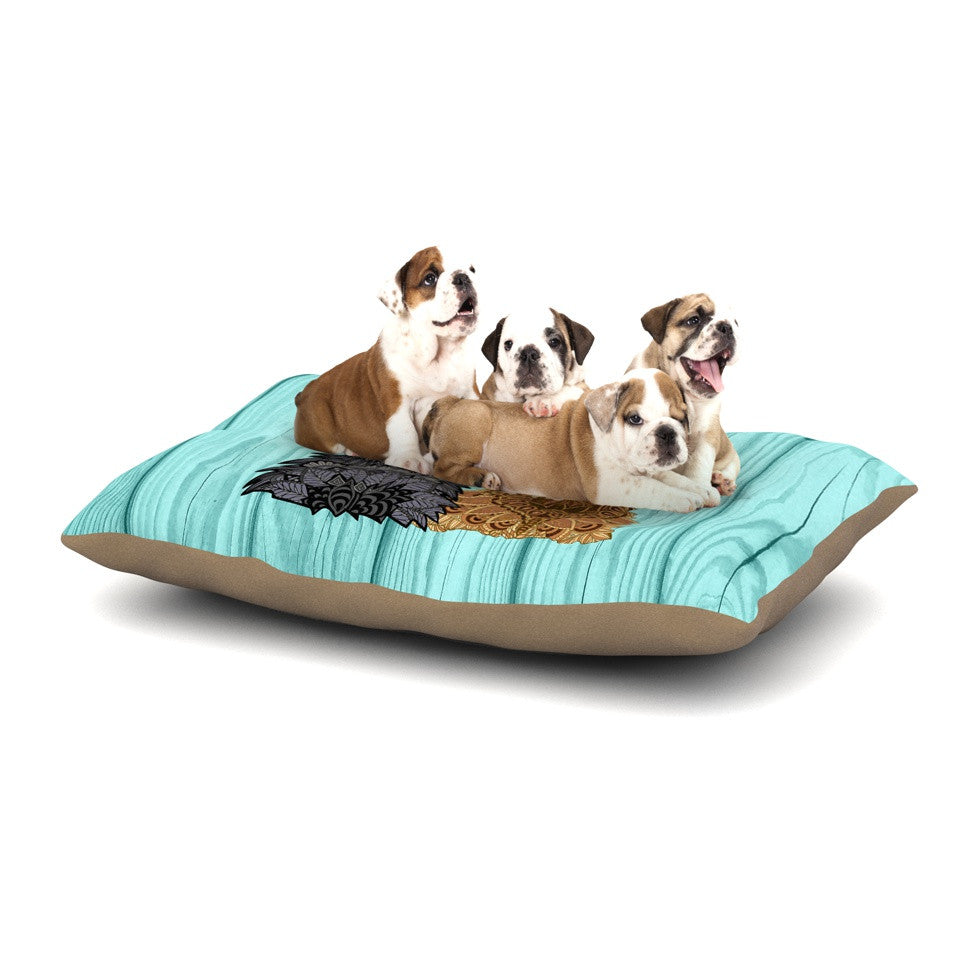"Art Love Passion ""Daisy and Gatsby"" Abstract Puppies Dog Bed - KESS InHouse  - 1"