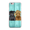 "Art Love Passion ""Daisy and Gatsby"" Abstract Puppies iPhone Case - KESS InHouse"